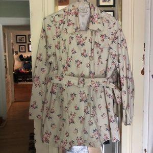 Torrid Floral Trench Coat